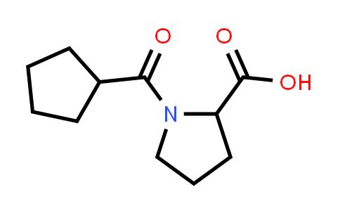 1-(Cyclopentanecarbonyl)pyrrolidine-2-carboxylic acid
