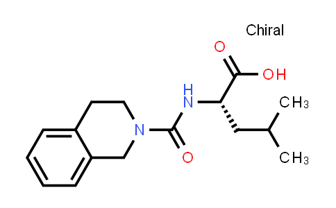 (S)-4-Methyl-2-(1,2,3,4-tetrahydroisoquinoline-2-carboxamido)pentanoic acid