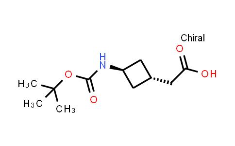 2-(trans-3-((tert-Butoxycarbonyl)amino)cyclobutyl)acetic acid