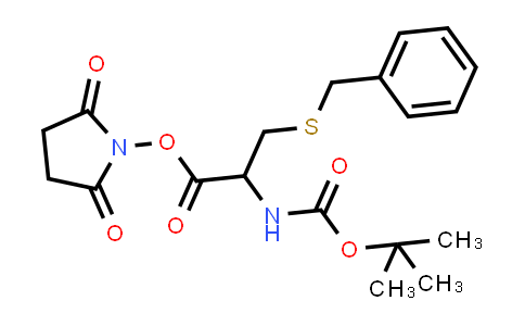 2,5-Dioxopyrrolidin-1-yl 3-(benzylthio)-2-((tert-butoxycarbonyl)amino)propanoate