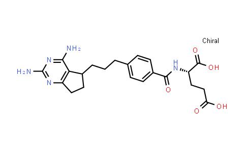 (2S)-2-(4-(3-(2,4-Diamino-6,7-dihydro-5H-cyclopenta[d]pyrimidin-5-yl)propyl)benzamido)pentanedioic acid