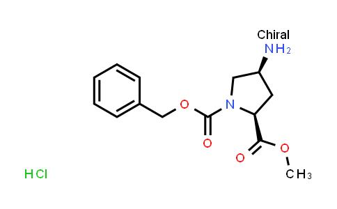 (2S,4S)-1-Benzyl 2-methyl 4-aminopyrrolidine-1,2-dicarboxylate hydrochloride