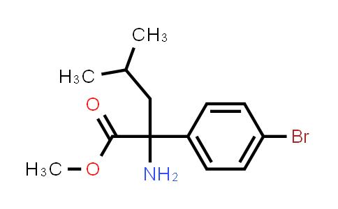Methyl 2-amino-2-(4-bromophenyl)-4-methylpentanoate