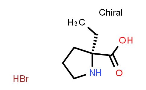 (S)-2-Ethylpyrrolidine-2-carboxylic acid hydrobromide