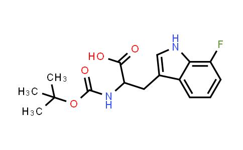 2-((tert-Butoxycarbonyl)amino)-3-(7-fluoro-1H-indol-3-yl)propanoic acid