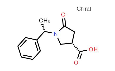 (S)-5-Oxo-1-((S)-1-phenylethyl)pyrrolidine-3-carboxylic acid