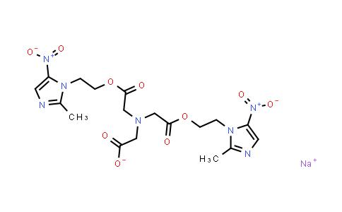 Sodium 2-(bis(2-(2-(2-methyl-5-nitro-1H-imidazol-1-yl)ethoxy)-2-oxoethyl)amino)acetate