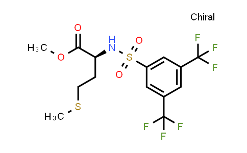 (S)-Methyl 2-(3,5-bis(trifluoromethyl)phenylsulfonamido)-4-(methylthio)butanoate