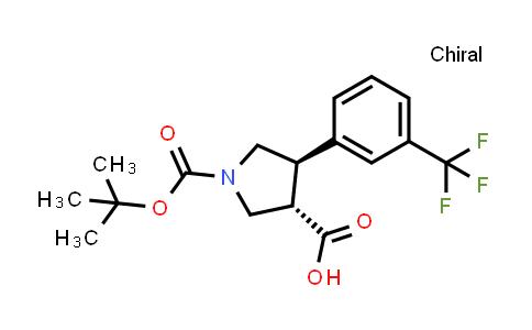 (3S,4R)-1-(tert-Butoxycarbonyl)-4-(3-(trifluoromethyl)phenyl)pyrrolidine-3-carboxylic acid