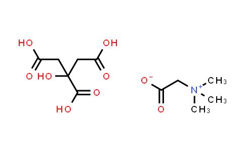 2-(Trimethylammonio)acetate compound with 2-hydroxypropane-1,2,3-tricarboxylic acid (1:1)