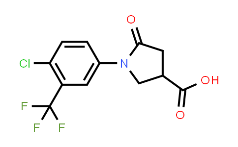 1-(4-Chloro-3-(trifluoromethyl)phenyl)-5-oxopyrrolidine-3-carboxylic acid