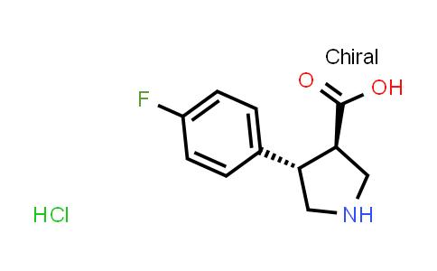 (3R,4S)-4-(4-Fluorophenyl)pyrrolidine-3-carboxylic acid hydrochloride