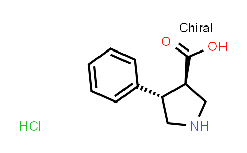 (3R,4S)-4-Phenylpyrrolidine-3-carboxylic acid hydrochloride