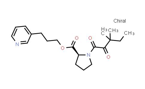 (S)-3-(Pyridin-3-yl)propyl 1-(3,3-dimethyl-2-oxopentanoyl)pyrrolidine-2-carboxylate