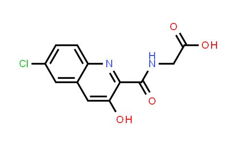2-(6-Chloro-3-hydroxyquinoline-2-carboxamido)acetic acid
