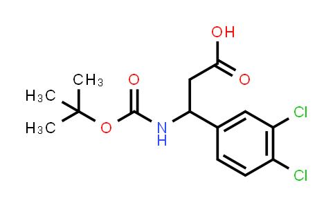 3-((tert-Butoxycarbonyl)amino)-3-(3,4-dichlorophenyl)propanoic acid
