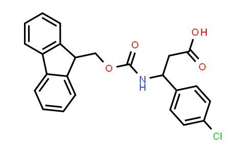 3-((((9H-Fluoren-9-yl)methoxy)carbonyl)amino)-3-(4-chlorophenyl)propanoic acid