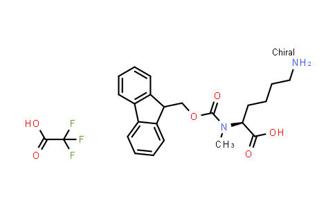 (S)-2-((((9H-Fluoren-9-yl)methoxy)carbonyl)(methyl)amino)-6-aminohexanoic acid compound with 2,2,2-trifluoroacetic acid (1:1)