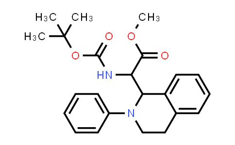 Methyl 2-((tert-butoxycarbonyl)amino)-2-(2-phenyl-1,2,3,4-tetrahydroisoquinolin-1-yl)acetate