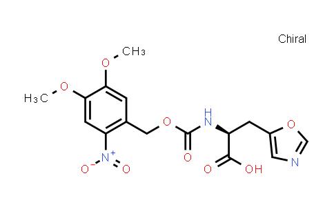 (S)-2-((((4,5-Dimethoxy-2-nitrobenzyl)oxy)carbonyl)amino)-3-(oxazol-5-yl)propanoic acid