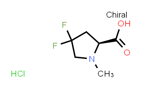 (S)-4,4-Difluoro-1-methylpyrrolidine-2-carboxylic acid hydrochloride