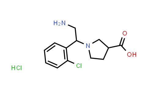 1-(2-Amino-1-(2-chlorophenyl)ethyl)pyrrolidine-3-carboxylic acid hydrochloride