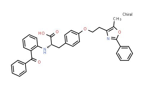 (S)-2-((2-Benzoylphenyl)amino)-3-(4-(2-(5-methyl-2-phenyloxazol-4-yl)ethoxy)phenyl)propanoic acid