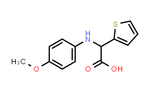 2-((4-Methoxyphenyl)amino)-2-(thiophen-2-yl)acetic acid