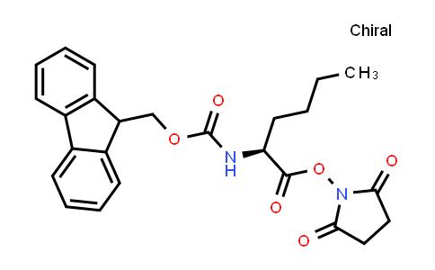 (S)-2,5-Dioxopyrrolidin-1-yl 2-((((9H-fluoren-9-yl)methoxy)carbonyl)amino)hexanoate