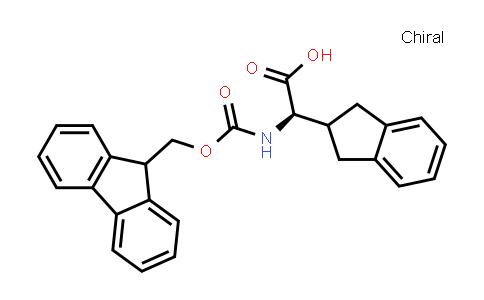 (R)-2-((((9H-Fluoren-9-yl)methoxy)carbonyl)amino)-2-(2,3-dihydro-1H-inden-2-yl)acetic acid