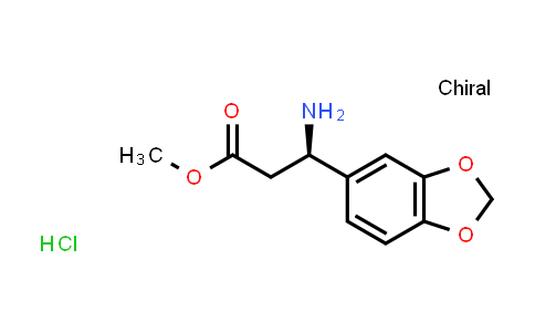(R)-Methyl 3-amino-3-(benzo[d][1,3]dioxol-5-yl)propanoate hydrochloride
