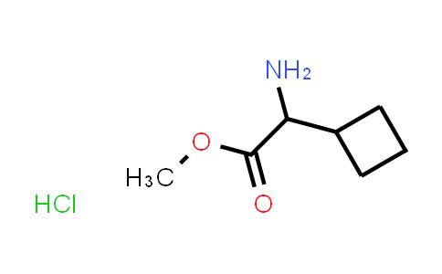 Methyl 2-amino-2-cyclobutylacetate hydrochloride