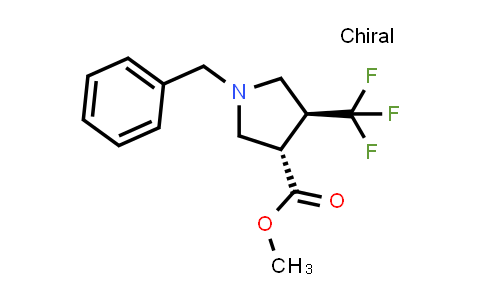 trans-Methyl 1-benzyl-4-(trifluoromethyl)pyrrolidine-3-carboxylate