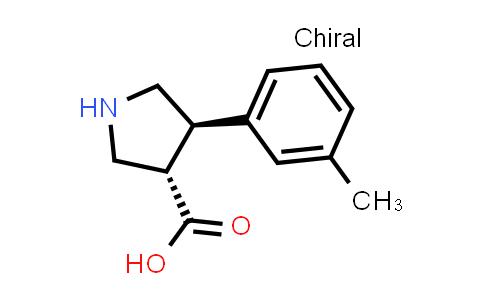 trans-4-(m-Tolyl)pyrrolidine-3-carboxylic acid