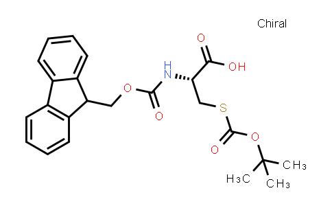 (R)-2-((((9H-Fluoren-9-yl)methoxy)carbonyl)amino)-3-((tert-butoxycarbonyl)thio)propanoic acid