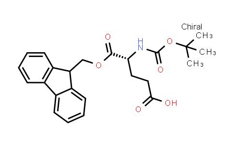 (R)-5-((9H-Fluoren-9-yl)methoxy)-4-((tert-butoxycarbonyl)amino)-5-oxopentanoic acid
