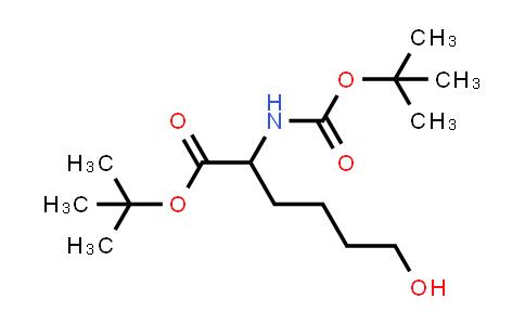 tert-Butyl 2-((tert-butoxycarbonyl)amino)-6-hydroxyhexanoate