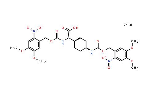 (S)-2-((((4,5-Dimethoxy-2-nitrobenzyl)oxy)carbonyl)amino)-2-((1s,4R)-4-((((4,5-dimethoxy-2-nitrobenzyl)oxy)carbonyl)amino)cyclohexyl)acetic acid