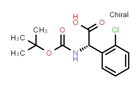(S)-2-((tert-Butoxycarbonyl)amino)-2-(2-chlorophenyl)acetic acid