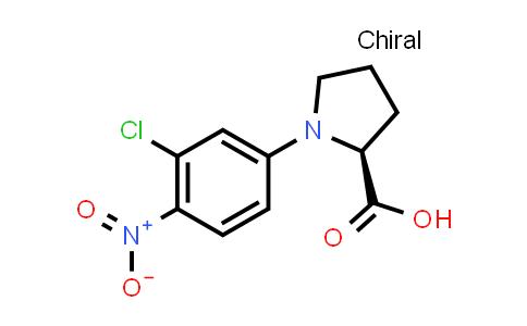 (S)-1-(3-Chloro-4-nitrophenyl)pyrrolidine-2-carboxylic acid