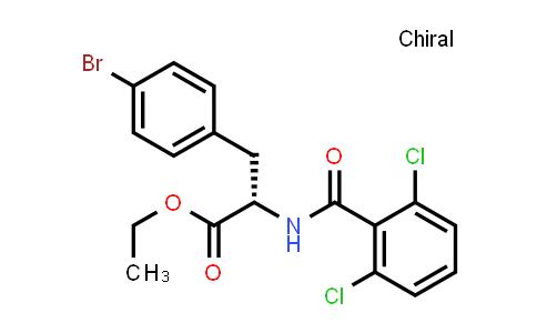 (S)-Ethyl 3-(4-bromophenyl)-2-(2,6-dichlorobenzamido)propanoate