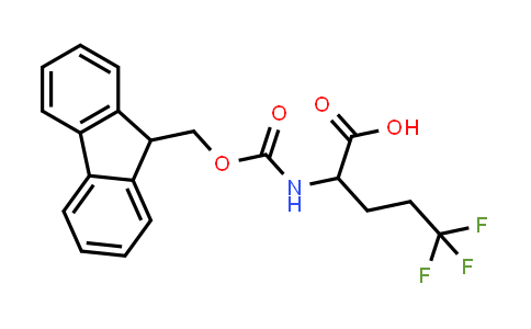 2-((((9H-Fluoren-9-yl)methoxy)carbonyl)amino)-5,5,5-trifluoropentanoic acid