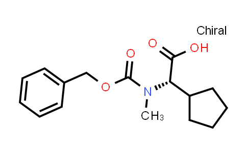(S)-2-((Benzyloxy)carbonyl)(methyl)amino)-2-cyclopentylacetic acid