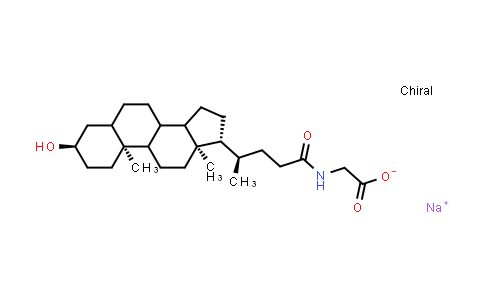 Sodium ((4R)-4-((3R,10S,13R,17R)-3-hydroxy-10,13-dimethylhexadecahydro-1H-cyclopenta[a]phenanthren-17-yl)pentanoyl)glycinate