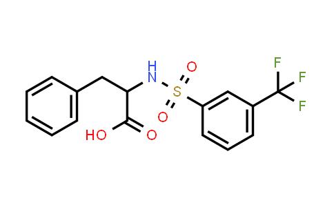 3-Phenyl-2-(3-(trifluoromethyl)phenylsulfonamido)propanoic acid