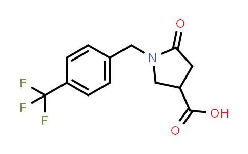 5-Oxo-1-(4-(trifluoromethyl)benzyl)pyrrolidine-3-carboxylic acid