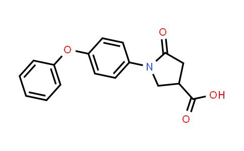 5-Oxo-1-(4-phenoxyphenyl)pyrrolidine-3-carboxylic acid