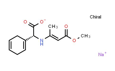 Sodium (R,E)-2-(cyclohexa-1,4-dien-1-yl)-2-((4-methoxy-4-oxobut-2-en-2-yl)amino)acetate