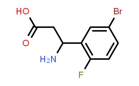 3-Amino-3-(5-bromo-2-fluorophenyl)propanoic acid