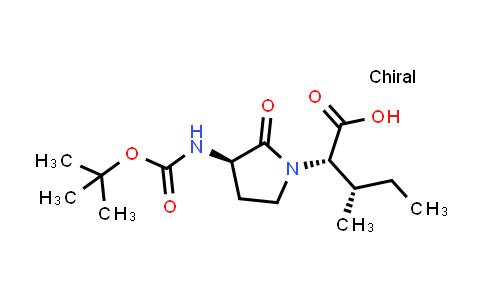 (2S,3S)-2-((R)-3-((tert-butoxycarbonyl)amino)-2-oxopyrrolidin-1-yl)-3-methylpentanoic acid